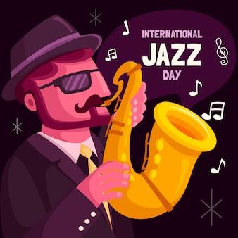 Dia internacional do jazz plano