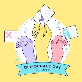 Dia internacional do tema do evento de democracia