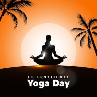 Dia internacional do yoga, nascer do sol.