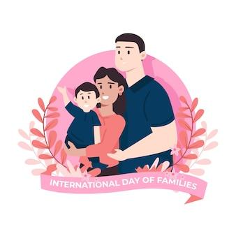 Dia internacional ilustrado das famílias