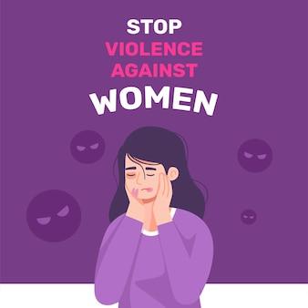Dia internacional para a eliminação da violência contra mulheres com fundo de menina
