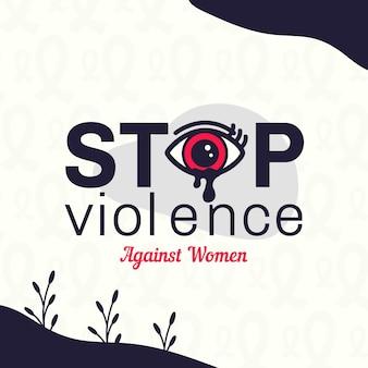 Dia internacional para a eliminação da violência contra mulheres com fundo de olhos chorando