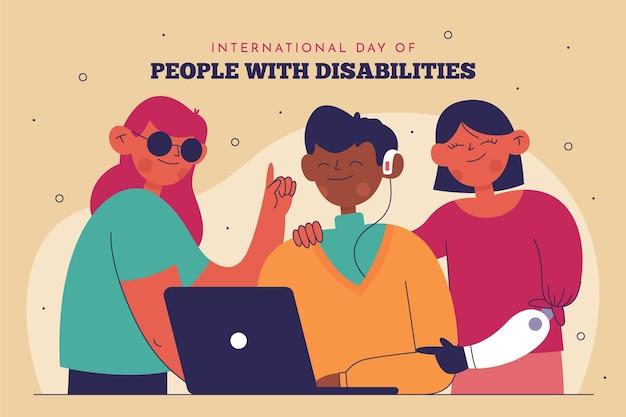 Dia internacional plana das pessoas com deficiência