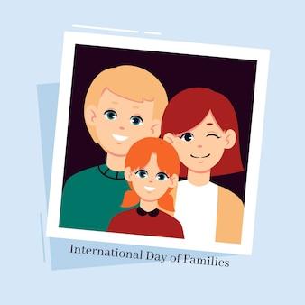 Dia internacional plano das famílias