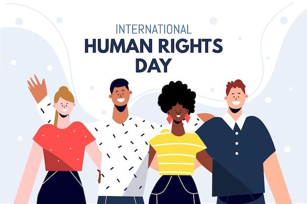 Dia internacional plano dos direitos humanos Vetor grátis
