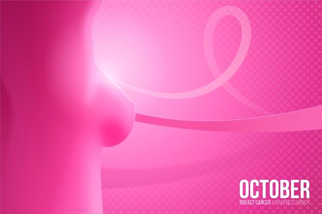 Dia internacional realista contra o fundo do câncer de mama
