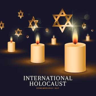 Dia internacional realista da lembrança do holocausto