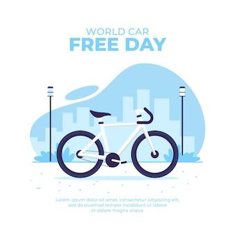 Dia livre do carro do mundo plano