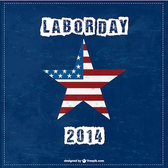 Dia livre do vetor dos eua de trabalho