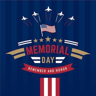 Dia memorial nacional americano com aviões