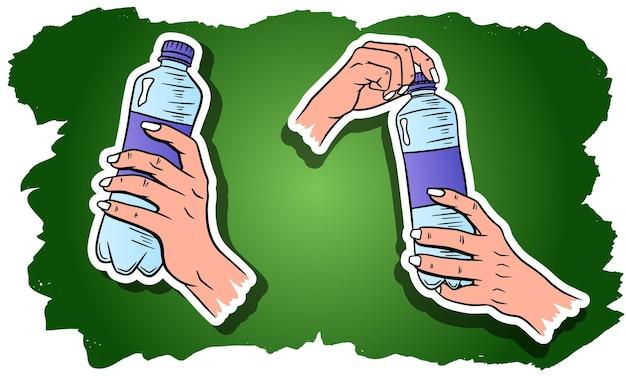 Dia mundial da água. água em uma garrafa de plástico.