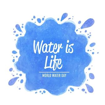 Dia mundial da água em aquarela