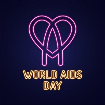 Dia mundial da aids, 1 de dezembro ícone para infecção pelo hiv com texto.