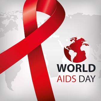 Dia mundial da aids com fita