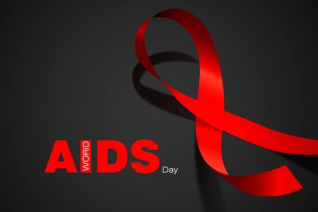 Dia mundial da aids. laço vermelho. ilustração em vetor conceito