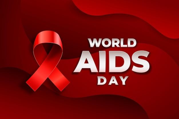 Dia mundial da aids no estilo de papel