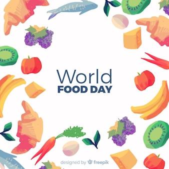 Dia mundial da alimentação em aquarela