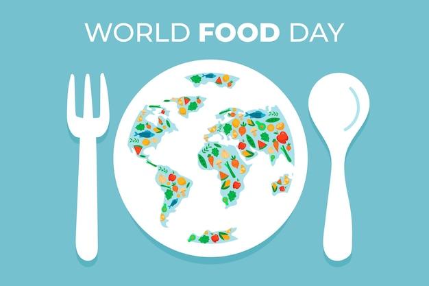 Dia mundial da comida desenhado à mão
