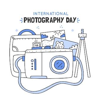 Dia mundial da fotografia com fotos