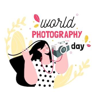 Dia mundial da fotografia com o fotógrafo