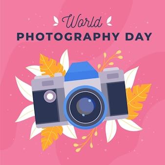 Dia mundial da fotografia de mão desenhada