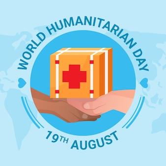 Dia mundial da humanidade em design plano