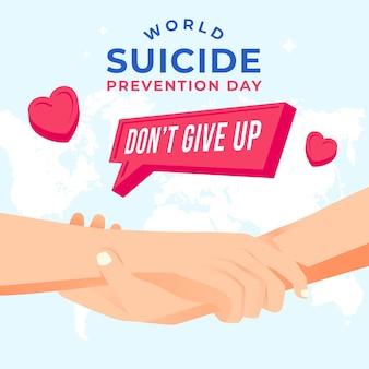 Dia mundial da prevenção do suicídio com as mãos