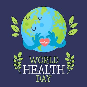 Dia mundial da saúde desenhados à mão