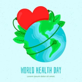 Dia mundial da saúde design plano