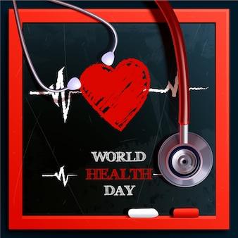 Dia mundial da saúde design realista