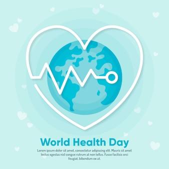 Dia mundial da saúde do papel de parede design plano