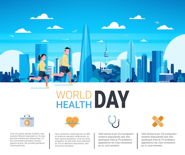 Dia mundial da saúde infográfico