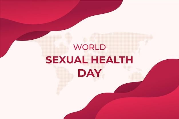 Dia mundial da saúde sexual camadas de fundo