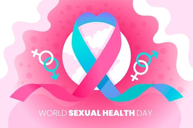 Dia mundial da saúde sexual com fita