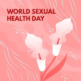 Dia mundial da saúde sexual com lírios