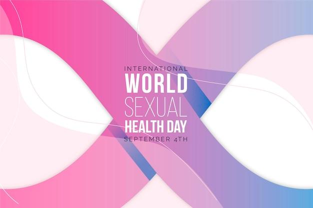 Dia mundial da saúde sexual de gradiente