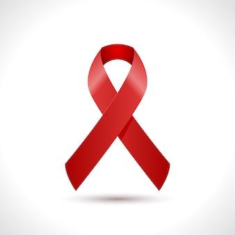 Dia mundial da sida design de ícone de fita