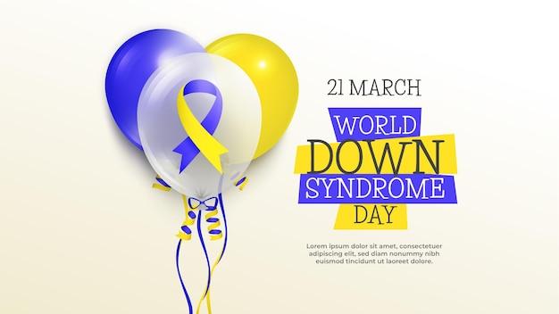 Dia mundial da síndrome de down com balões