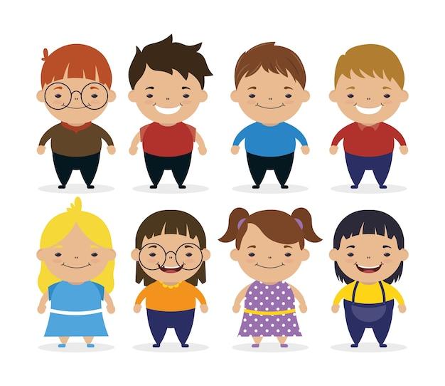 Dia mundial da síndrome de down com crianças pequenas