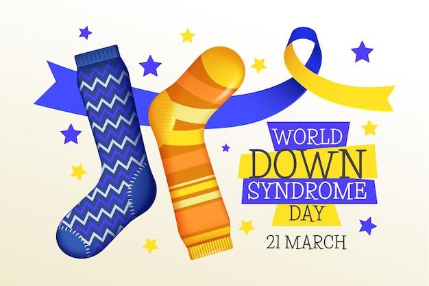 Dia mundial da síndrome de down com meias