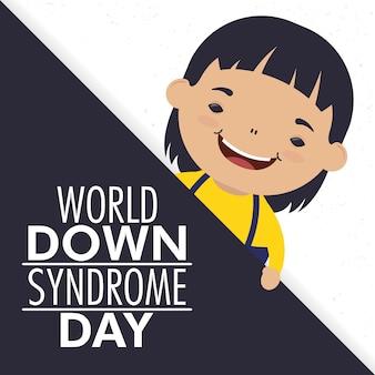 Dia mundial da síndrome de down com o menino