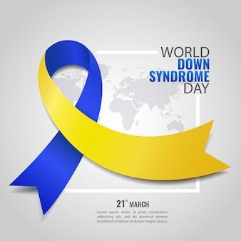 Dia mundial da síndrome de down. Vetor Premium