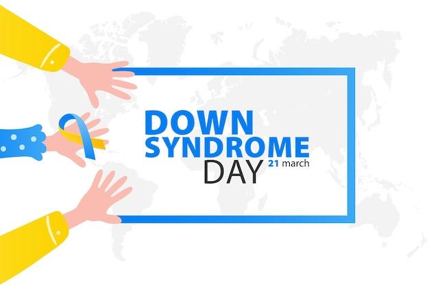 Dia mundial da síndrome de down Vetor Premium