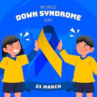 Dia mundial da síndrome de down Vetor grátis