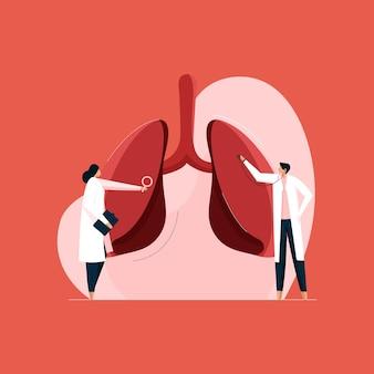 Dia mundial da tuberculose tratamento de pneumonia e câncer inspeção de pulmões saudáveis