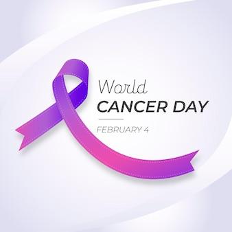 Dia mundial do câncer gradiente