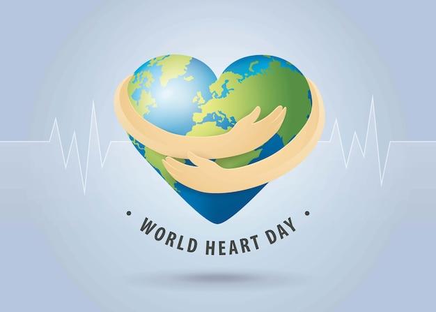 Dia mundial do coração em design plano