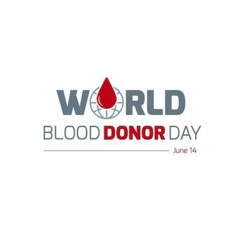Dia mundial do dador de sangue tipografia criativa globo