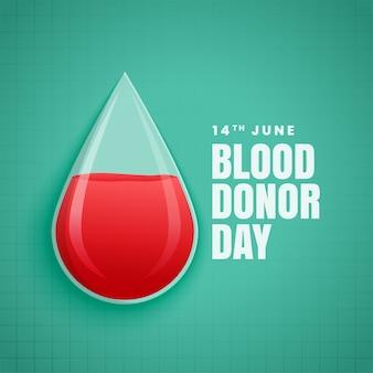 Dia mundial do doador de sangue de junho