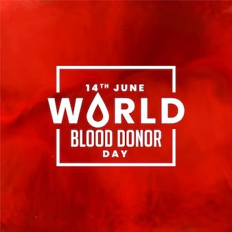 Dia mundial do doador de sangue vermelho